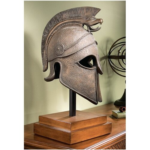 Macedonian Battle Helmet Museum Sculpture