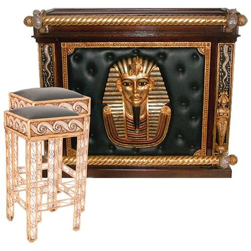 Design Toscano The Altar of Tenenit Egyptian Home Bar Set