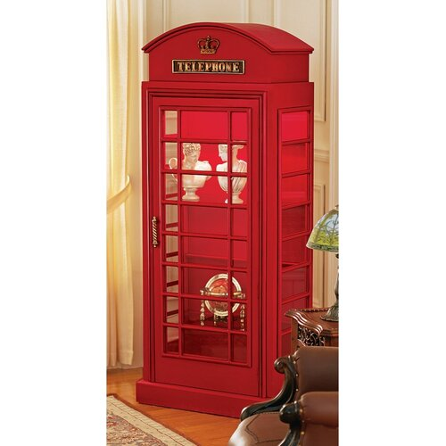 British Telephone Booth Display Cabinet