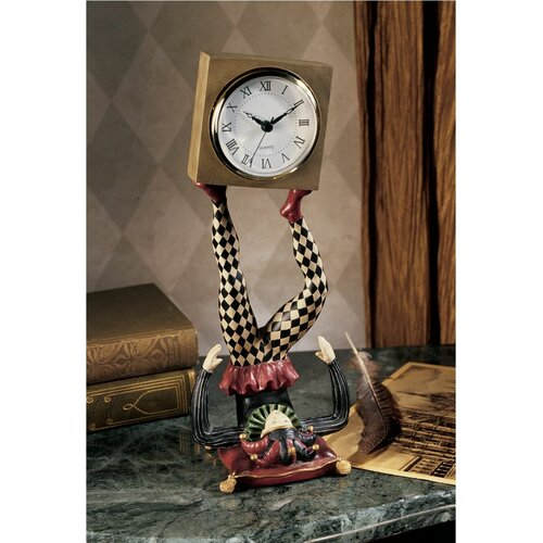 Design Toscano Juggling Time Harlequin Jester Sculptural Clock