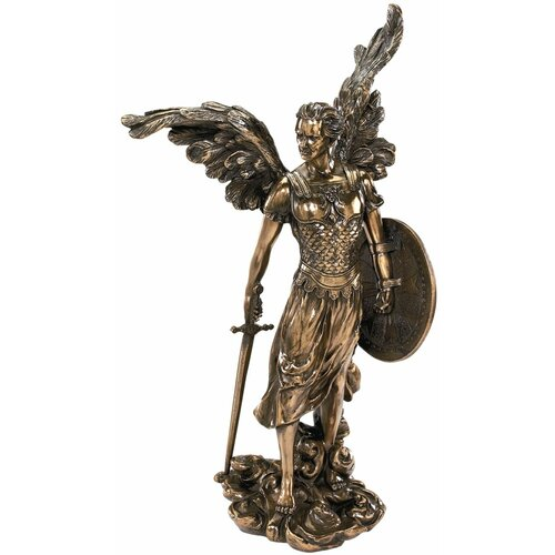 St. Michael the Archangel Sculpture in Faux Bronze