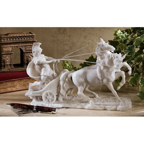 Design Toscano Charge of the Roman Charioteer Sculpture