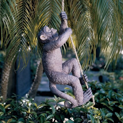 Design Toscano Makokou The Climbing Monkey Statue