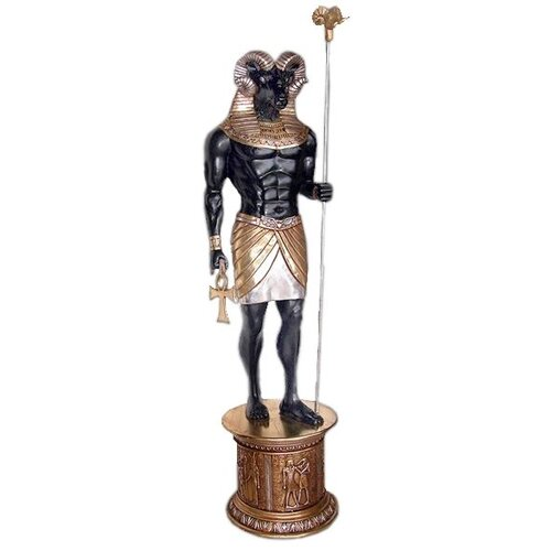 Design Toscano The Egyptian Grand Ruler Life-Size Khnum Statue