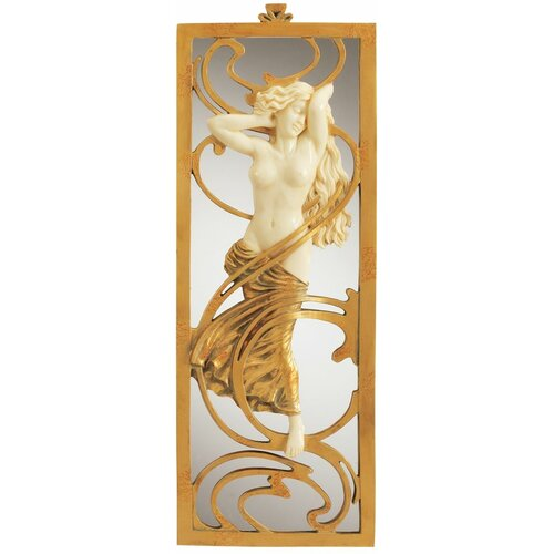 Design Toscano Parisian Art Nouveau  Wall Mirror
