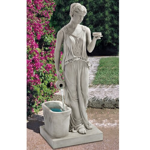 Resin Hebe, Goddess of Youth Garden Fountain