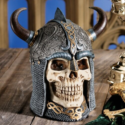 Design Toscano Daimer The Celtic Skull Warrior Sculpture