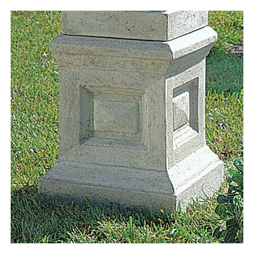 Design Toscano Neoclassical Grand Garden English Plinth Pedestal Stand