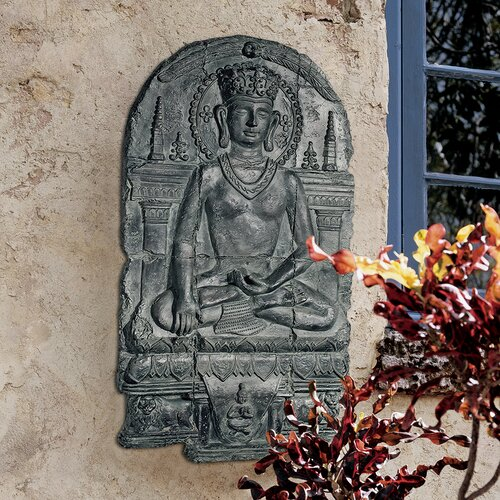 Design Toscano Earth Witness Buddha Sculptural Wall Décor
