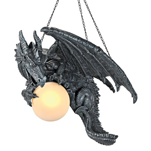 Nights Fury Sculptural Hanging Dragon Lamp