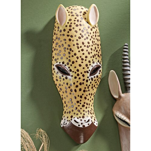 Design Toscano Serengeti Animal Mask African Tribal-Style Wall Décor