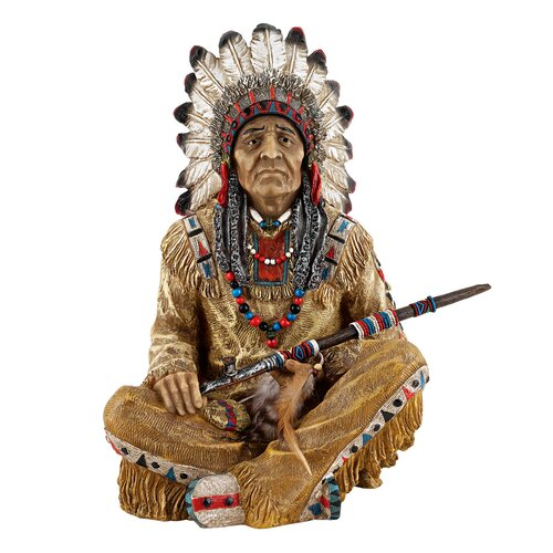 Noble Feathers Native American Figurine