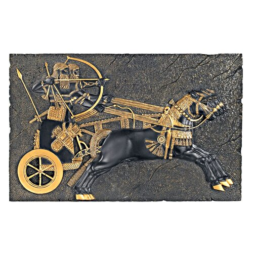 Design Toscano Assyrian War-Chariot Charging the For Wall Décor