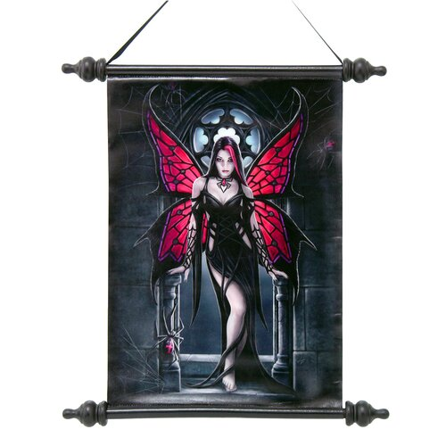 Design Toscano Aracnafaria Spider Fairy Canvas by Anne Stokes Wall Scroll Tapestry