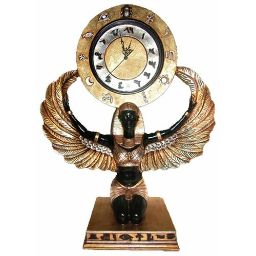 Egyptian Goddess Isis Grand-Scale Clock Statue
