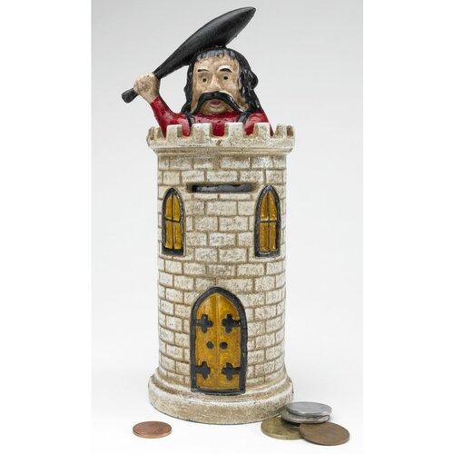 Design Toscano Bracciano Castle Authentic Foundry Mechanical Bank Statue