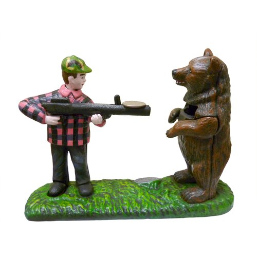 Bear Hunt Collectors' Die Mechanical Coin Bank Statue