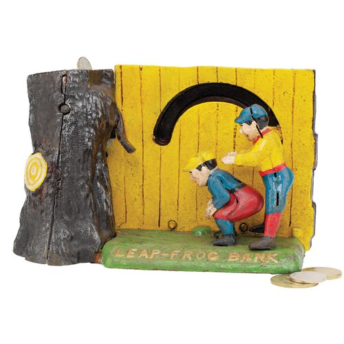 Design Toscano Leap Frog Collectors' Mechanical Coin Bank Figurine