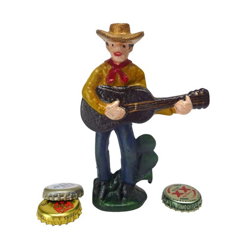 Design Toscano Cactus Pete the Cowboy Cast Iron Bottle Opener