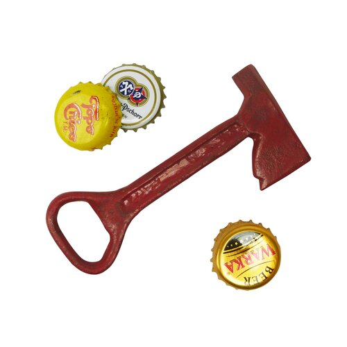 Fireman Ax Cast Iron Bottle Opener