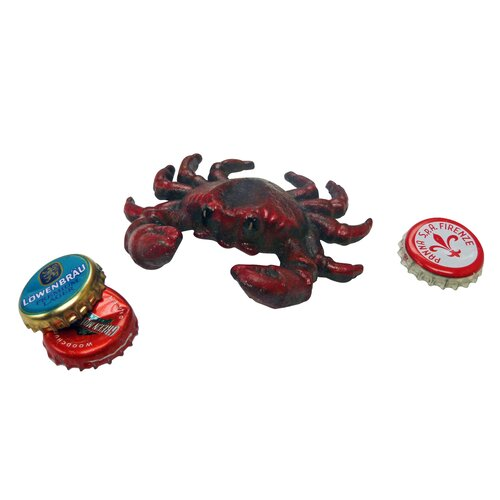 Deep Sea Red Crab Cast Iron Bottle Opener