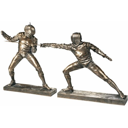 2 Piece The Fencers Sculpture