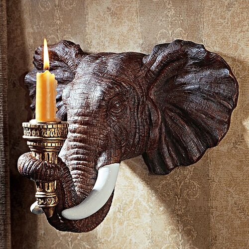 Design Toscano Elephant Wall Sconce