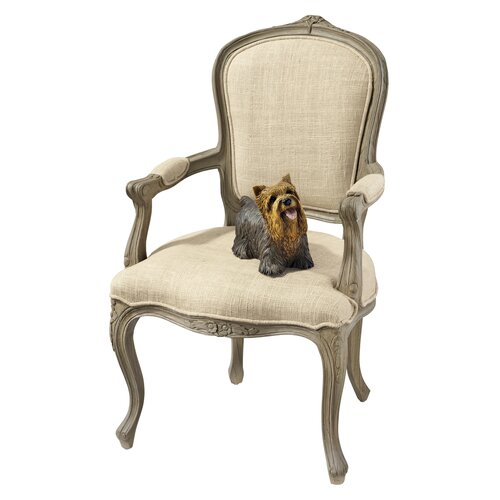 Design Toscano The Carlisle Louis XV Open Twill Arm Chair