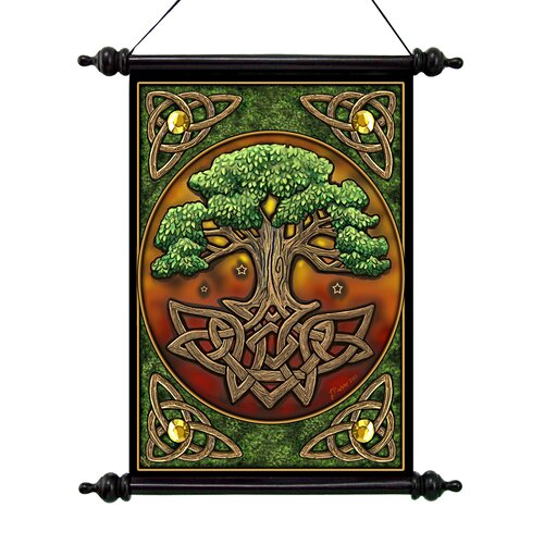 Design Toscano Tree of Life Canvas by Lisa Parker Wall Scroll Tapestry
