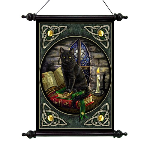 Design Toscano Cat and Books Canvas by Lisa Parker Wall Scroll Tapestry