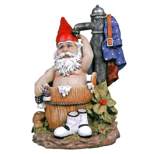 Tubby the Bathing Garden Gnome Statue