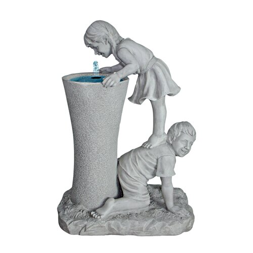Get a Leg Up Girl and Boy Sculptural Fountain