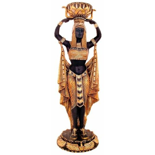 Cleopatra's Egyptian Nubian Maiden Scale Statue