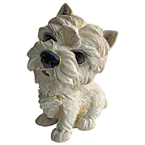 Prized Pup West Highland Terrier Puppy Dog Statue