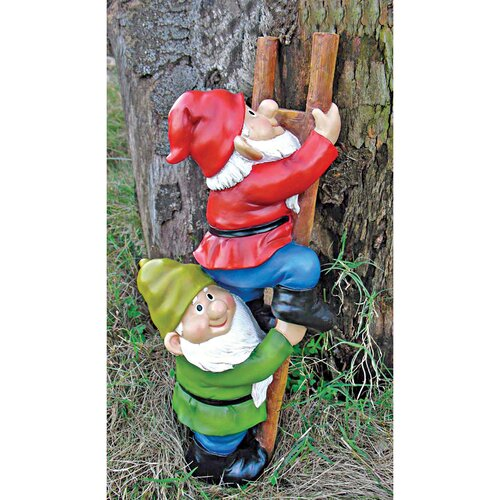 Design Toscano Up The Ladder Climbing Garden Gnome Statue