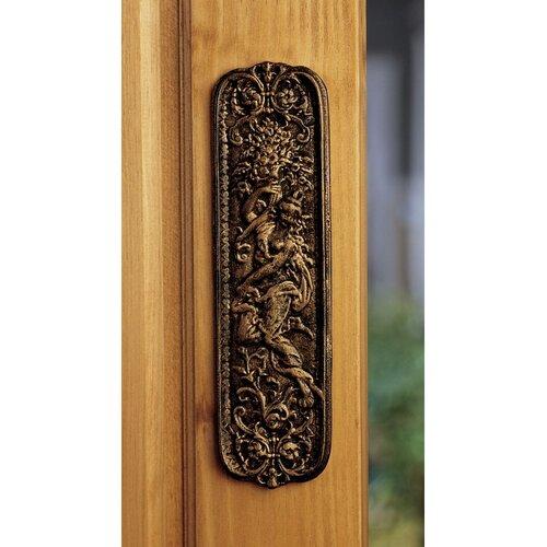 Design Toscano Maiden Door Plate