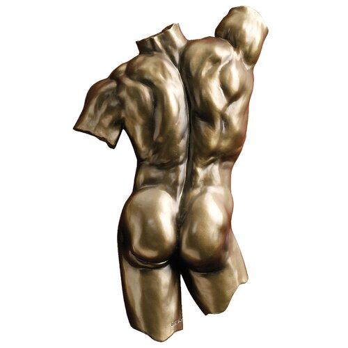 Design Toscano Anatomical Decipher Nude Torso Male Wall Décor