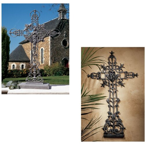 Design Toscano The Veneration Crosses Statue (Set of 2)
