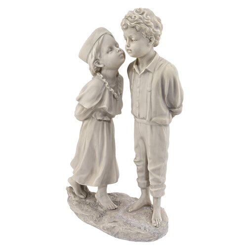 Love's First Kiss Children Garden Statue