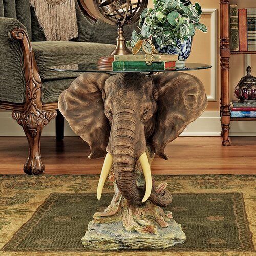 Design toscano lord earl houghton 39 s trophy elephant coffee table reviews wayfair Elephant coffee table