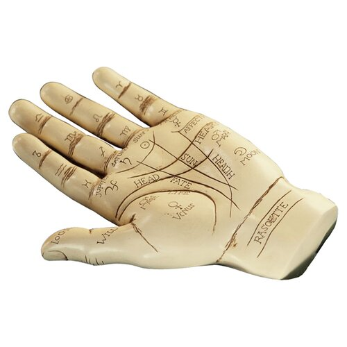 Design Toscano The Palmistry Hand Sculpture