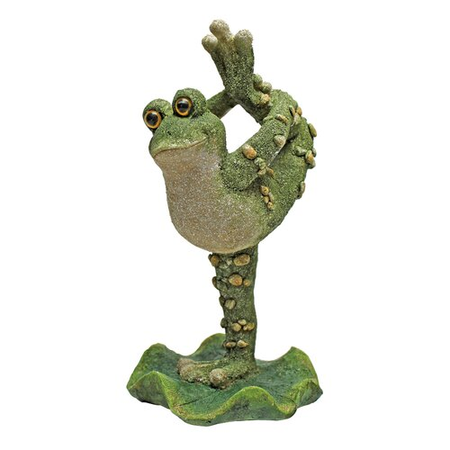 Design Toscano Boogie Down, Dancing Frog Leg Up Statue