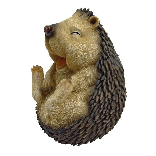 Roly - Poly Laughing Hedgehog Statue