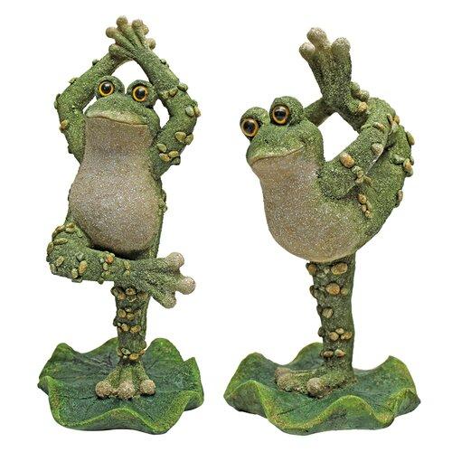 Design Toscano Boogie Down, Dancing Frog Leg Up Statue