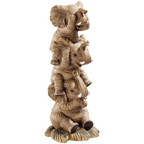 The Hear-No, See-No, Speak-No Evil Elephant Sculpture (Set of 2)