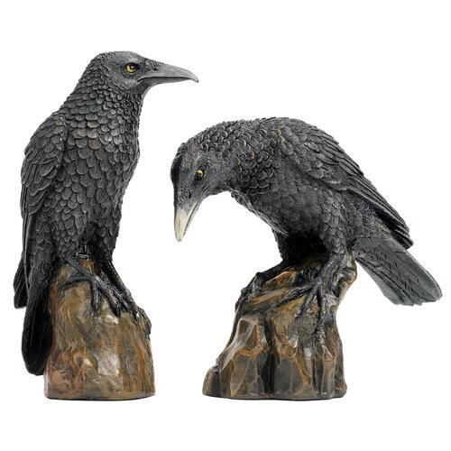 Design Toscano 2 Piece Mystic Night Raven Statue Set
