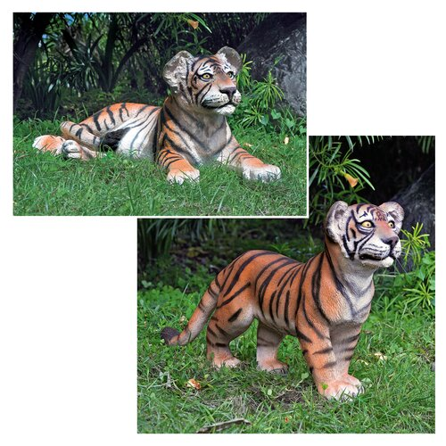 The Grand-Scale Wildlife Animal Statue (Set of 2)