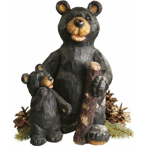 Forest Bear Pair Statue