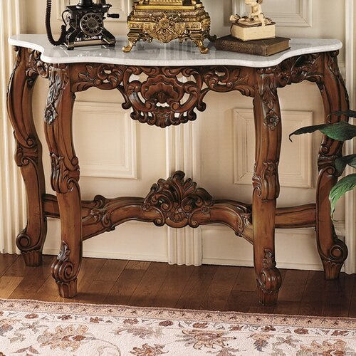 royal baroque console table and mirror set wayfair. Black Bedroom Furniture Sets. Home Design Ideas