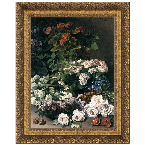 Spring Flowers, 1864, by Claude Monet Framed Painting Print